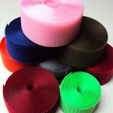 DIY New Colorful Sew On Color velcro-like Hook and Loop fastener tape 25mm 50mm
