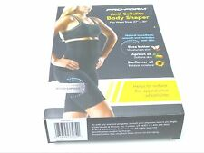 PRO FORM ANTI CELLULITE BODY SHAPER SZ S/M OR M/L COLOR BLACK WIDE BAND AT WAIST