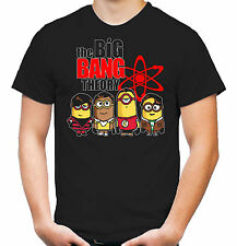 Big Bang Minions T-Shirt | Theory | Bazinga | Geek | Spock | Minion | Sheldon