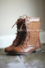 """Just A Little Persnickety"" Toddler Girls Vintage Style Lace Up Tall Boots"
