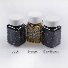 NEW SILICONE LINED NANO MICRO RINGS BEADS FOR USE WITH NANO TIP HAIR EXTENSIONS