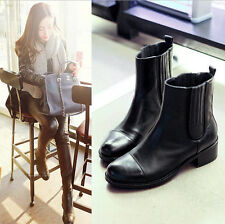British style women fashion-ankle boots patent leather pure black zipper boots