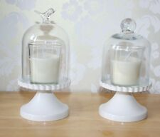Mini cupcake/candle stand,metal base/glass dome top, Height 17cm