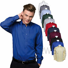 Kustom Kit Mens Long Sleeve Corporate Oxford Shirt Business Work Wear KK105