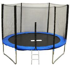 8ft 10ft 12ft Trampoline with Safety Net / Enclosure FREE Ladder And Raincover
