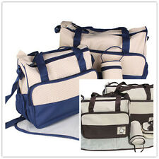 Travel Outdoor Mummy Baby Diaper Nappy Water Bottle Changing Storage Tote Bag xp