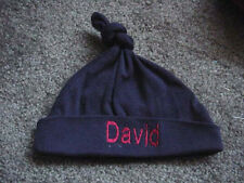 Personalized Baby Knotted Hat Cap Beanie Baby Boy Girl Infant Newborn