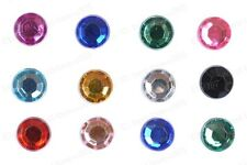 4MM/6MM/8MM Crystal Flat Back Acrylic Rhinestones 10Colors Wholesale 100/200PCS