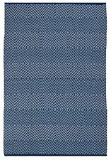 Fab Habitat Indoor Outdoor Patio Rug Mat Zen ~ Blue & White -Choose Size