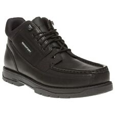 New Mens Rockport Black Marangue Leather Boots Lace Up