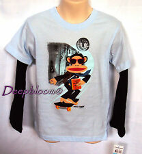 PAUL FRANK TOP SHIRT BOYS SCIENCE SKATE LONG SLEEVE 12 18 24 MONTHS NEW