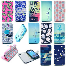 Pocket Card Holder Wallet Flip Leather Case Cover Housing for Mobile Cell Phone