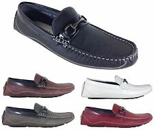 Men Brixton New Leather Driving Casual Shoes Moccasins Slip On Loafers show1