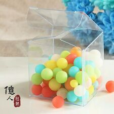 20 Clear PVC Boxes Wedding Party Candy Favor Craft Jewelry Packaging Display box