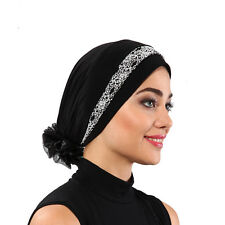 US Seller! NEW Fancy Bonnet Cancer Chemo Hijab Turban Cap Beanie Colors ,