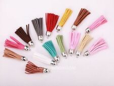 Wholesale 5pcs Artificial Leather Tassel pandent for bags,key chains 18 Colors