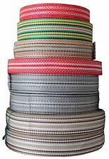 WEBBING  STRAPPING TAPE VARIOUS COLORS SIZES LENGTHS POLYPROPYLENE
