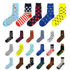 Unisex Novelty Star Flag Dog Shark Dress Stripe Dot Designer Casual Crew Socks