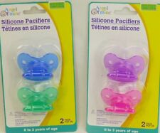ANGEL OF MINE 2 PACK SILICONE PACIFIERS BPA FREE AGES 0-3 YEARS ASSORTED COLORS