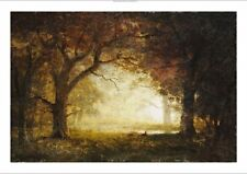 "ALBERT BIERSTADT ""Forest Sunrise"" landscape ON CANVAS various SIZES, BRAND NEW"