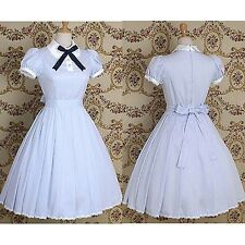 Gothic Handmade Lolita White Dress Cosplay Costume- Custom Made