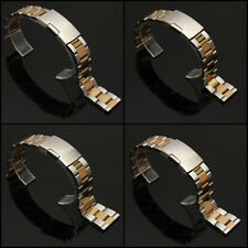 Stainless Steel Watch Band Strap Bracelet Straight End 18/20/22/24mm Gold&Silver
