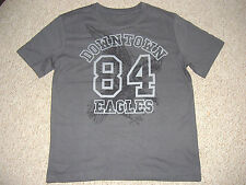 BOYS GREY T-SHIRT WITH EAGLES PRINT TO FRONT AGES 8-13 YEARS BNWOT