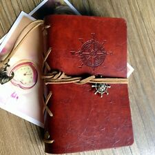 Vintage Leather Cover Blank Diary, Sketchbook, Travel Journal, 2 size available