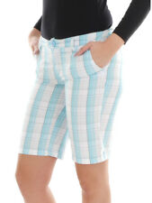 Vans Walkshort Shorts Lazy Days Turquoise White Checked Pocket
