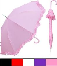 "New RainStoppers 48"" Parasol Style Umbrella pink - Free Priority Shipping"