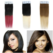 18''Dye Dip Ombre T Color Tape Skin Weft Super Tape IN Remy human hair Extension
