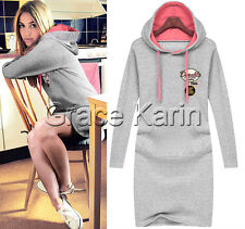2014 Lady Women Popular Hoodies Long Leisure Pullover Sweatshirt Dress XXS- XXL
