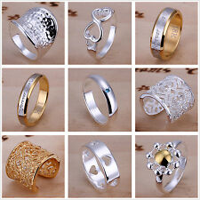 Wholesale Yellow Gold Filled Sterling Silver-plated Ring US Size 6 7 8 9 10