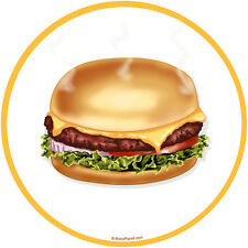 Cheeseburger Food Wall Decal Removable Diner Wall Decor