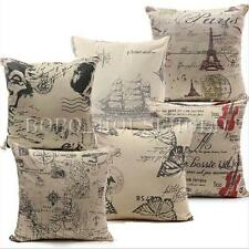 Classic European Cotton Linen Cushion Cover Throw Pillow Case Home Decor 45x45cm