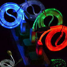 USB Charger Data Sync Cable for Cell Phones Samsung iPhone Visible LED Light