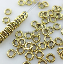 600/5000pcs Antique Silver Ring-shaped Small Spacer Beads 4mm