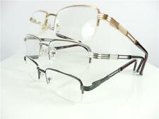 Mens Quality Reading Glasses Metal Semi Rimless +1.0+1.5+1.75+2.0+2.25+3.0 R133