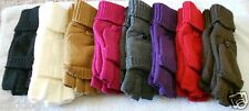 Knit Flip Top Gloves Convertible Fingerless Mittens  Assorted Colors