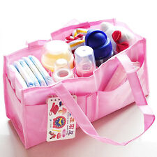 New Mommy Partition Beach Market Picnic Diaper  Waterproof Handbag Pure Colors