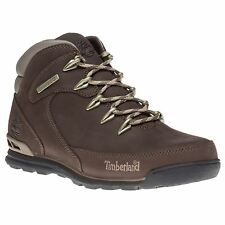 New Mens Timberland Brown Euro Rock Hiker Leather Boots Hikers Lace Up