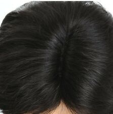 100% Natural Human Hair Man's wigs Big scalp Boy Men full wig Can be dyed permed