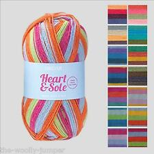 SIRDAR HEART & SOLE 4 PLY KNITTING YARN WITH FREE SOCK PATTERN - 1 BALL 1 PAIR