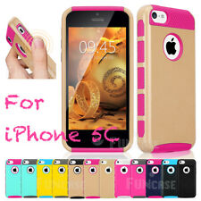 PC Shockproof Dirt Dust Proof Hard Matte Cover Case For iPhone 5C + Film Pen