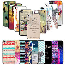 """Case Cover Slim Colorful Hybrid For Apple iPhone 4 5/5C 6 4.7"""" Printed Back Hard"""