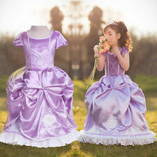 Princess Sofia the First Ballerina Toddler Costume Girl Party Cosplay Dress Xmas