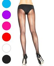 Back Seam Sheer Tights Pantyhose - Leg Avenue 9002