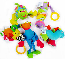 Kids Infant Baby Soft Toy Rattle Teether Flutter Squeaky Crinkle Plush Toy Doll