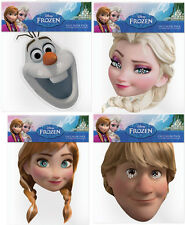 DISNEY FROZEN CARD FACE MASKS - 4 CHOICES & MULTIPACK OPTION - FREE SHIPPING!