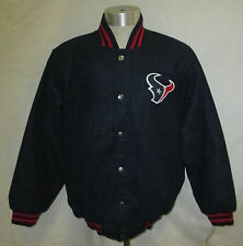 Houston Texans Men's Embroidered Wool Jacket with Snaps